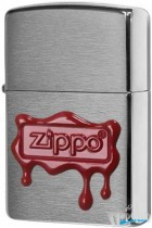 Зажигалка Zippo 29492 - Red Wax Seal - Brushed Chrome - Пароход Multi shop