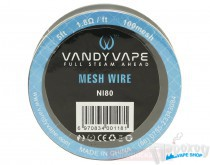 Сетка из нихрома VANDY VAPE MESH Wire NI80/100mesh 5ft - Пароход Multi shop